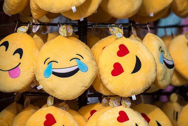 emojis on pillows