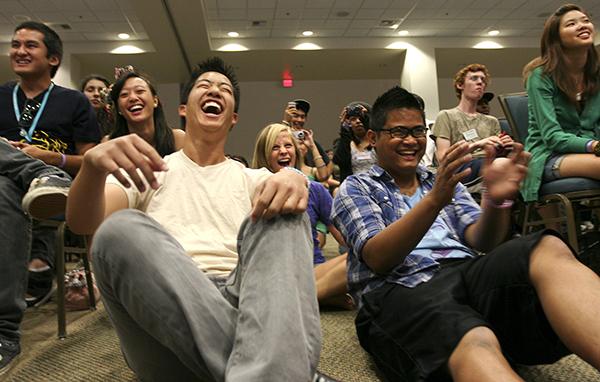 "Prospective students and former staffers alike laugh hysterically at ""Spimprov"" (SPOP + Improv)."