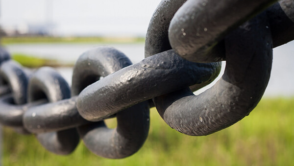 Chain links connected together