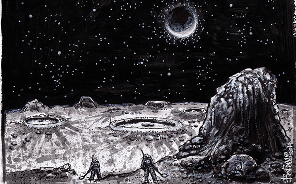 people on the moon