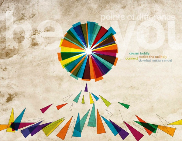 Be You Points of difference colorful art graphic